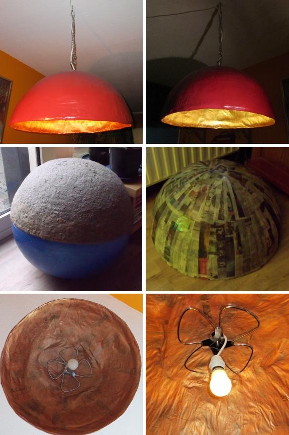 papiermache lamp